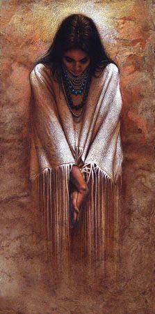 Reminds me of My beautiful mama that has a painting that was done of her in Indian maiden dress
