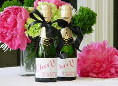 CHEERS! Mini champagne bottles say celebrate like no other! Add that special touch to your little bottles to personalize them for a welcome bag,