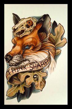 tattoo design fox