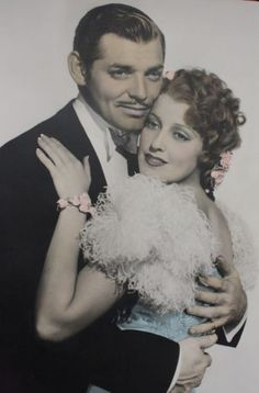Color photograph of Jeanette MacDonald and Clark Gable from San Francisco (1936)
