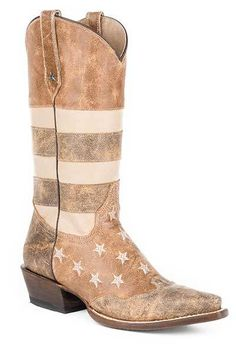 Roper Women's Vintage American Flag Snip Toe Cowgirl Boots - HeadWest Outfitters