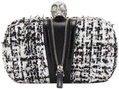#skull #AlexanderMcQueen Classic #Skull Black White Tweed Clutch. Get the trendiest Clutch of the season! The Alexander McQueen Classic Skull Black White Tweed Clutch is a top 10 member favorite on Tradesy. Save on yours before they are sold out!