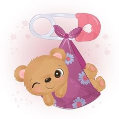 Panda Lindo, Sheep Illustration, Kawaii Crafts, Vector Photo, Cute Bears, Cute Images, Cute Baby Animals, Spring Flowers, Cute Babies