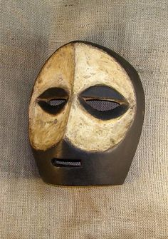African mask from the Kwele tribe of Gabon