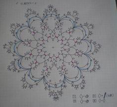 タティングレース「さし色ドイリー」の編み図です♪の画像 | 野乃のきまぐれHANDMADE生活♪