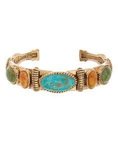 Look at this #zulilyfind! Turquoise & Jade Cuff by Barse #zulilyfinds