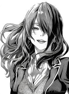 Rindo Kobayashi from Shokugeki No Soma by AnarchyWulf on DeviantArt Manga Girl, Manga Anime, Anime Ai, Otaku Anime, Shokugeki No Soma Characters, Shokugeki No Soma Anime, Anime Drawings Sketches, Manga Drawing, Kawaii Anime Girl