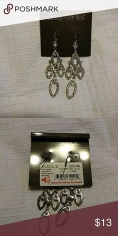 Earrings Chandelier type earrings bought at Kohls- never worn Daisy Fuentes Jewelry Earrings