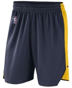Nike Men's Denver Nuggets Practice Shorts - Navy/Yellow XXL