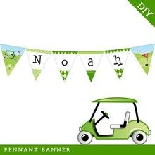 Golf Party Pennant Banner (Digital File)