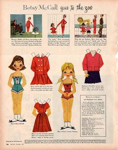 Betsy McCall goes to the zoo by cluttershop, via Flickr