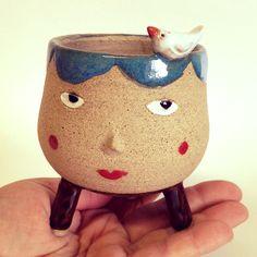 Mini vaso para suculentas em cerâmica  #ceramica #minivaso #suculenta