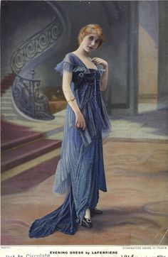 1914, Evening dress by Laferriere