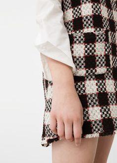 Robe carreaux tweed