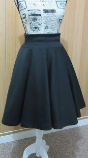 Mini Falda Plato con tela elástica | EL BAÚL DE LAS COSTURERAS
