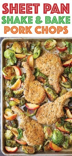 Sheet Pan Shake and Bake Pork Chops - A classic copycat made a million times bet. Sheet Pan Shake and Bake Pork Chops - A classic copycat made a million times Shake And Bake Pork, Recipe Sheets, One Pan Dinner, Sheet Pan Dinner, Sheet Pan Suppers, Baked Pork Chops, Pork Loin, Pan Pork Chops, Cooking Recipes