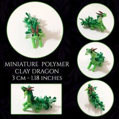 Handmade figurines and plushies. Polymer Clay Dragon, Little Dragon, Green Dragon, Clay Art, Really Cool Stuff, Etsy Seller, Best Gifts, Miniatures, Handmade Gifts