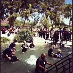 Full water baptism #taketheplunge