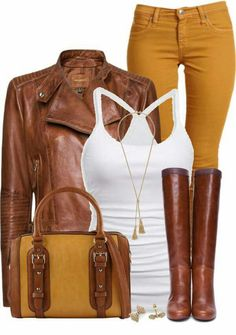 Stylish Eve Outfits - for casual, elegant, office, chic Look Mustard Jeans Outfit, Yellow Jeans Outfit, Mustard Pants, Pants Outfit, Mustard Yellow, Stylish Eve Outfits, Casual Outfits, Cute Outfits, Jean Outfits