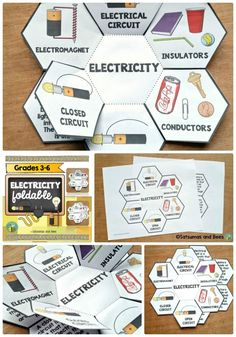 Electricity and Magnetism Interactive Science Notebook foldable Fourth Grade Science, Middle School Science, Elementary Science, Science Classroom, Teaching Science, Science For Kids, Earth Science, Science Worksheets, Science Resources