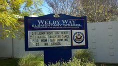 Welby Way elementary school, West Hills, CA