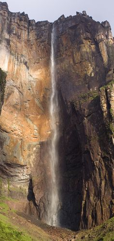 "Angel Falls (Spanish: Salto Ángel; Pemon language: Kerepakupai vena, meaning ""waterfall of the deepest place"", or Parakupa-vena, meaning ""the fall from the highest point"") is a waterfall in Venezuela."