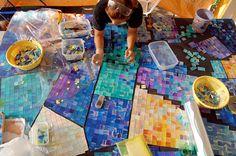 Mosaic Art – Work In Progress – Vitreous Glass Tile & Ceramic Tile – Teresina, Piaui Brazil