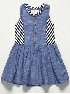 Fore N Birdie Blue Chambray Dress  Size 3T, 5, 7