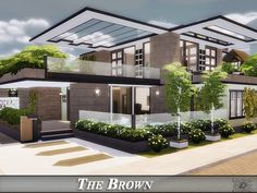 The Brown house by Danuta720 for The Sims 4