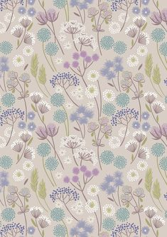 Bavlnená látka metráž Hedgerow flowers on natural - Látky z lásky 4c37f754459