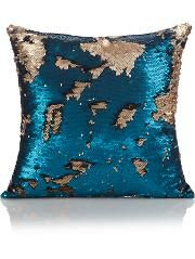 Teal and Gold Swipe Sequin Cushion Teal Room Decor, Teal Rooms, Gold Rooms, Gold Bedroom, Master Bedroom, Teal Cushions, Teal And Gold, Living Room Designs, Kids