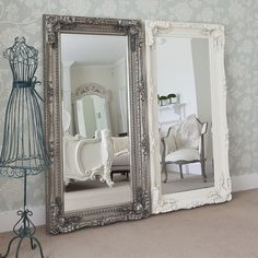 I love the shabby chic mirrors