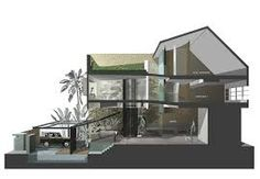 #architecture #sectional #perspective #drawing #render