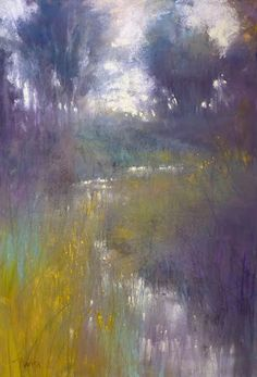 Barbara Benedetti Newton art - directly from my Studio to you. Pastel Landscape, Abstract Landscape Painting, Watercolor Landscape, Landscape Art, Landscape Paintings, Watercolor Art, Arte Floral, Pastel Art, Tree Art