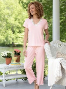 Women S Feelgood Capri Pajamas Sleepwear Women Comfortable