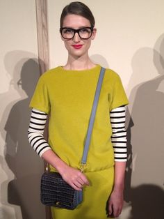 J. Crew Fall 2012. She looks like Jenna Lyons. Or is it her???