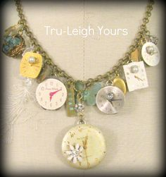Things that fly - Shabby Chic, French Inspired, Boho Gypsy Jewelry - Vintage Statement Necklace. $99.00, via Etsy.