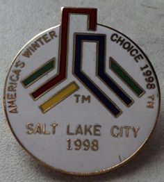 OLYMPIC GAMES PIN Americas Choice Winter 1998 Salt Lake Olympics Hat Pin Badge