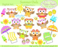 Hey, I found this really awesome Etsy listing at https://www.etsy.com/listing/160296614/summer-owl-clip-art-beach-owl-clip-art