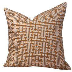 "Plutus Brands Maze Handmade Throw Pillow Size: 26"" H x 26"" W"