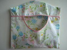 Vintage Pillow Case Clothespin Bag!