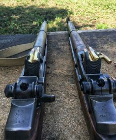Who can name the guns? And that ladies and gentlemen is what a magazine CLIP is. Indoor Shooting Range, M1 Garand, Battle Rifle, Military Weapons, Ww2 Weapons, Military Humor, Hunting Rifles, Guns And Ammo, Firearms