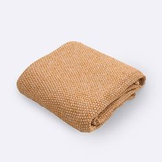 Marled Knit Throw - Horseradish #westelm