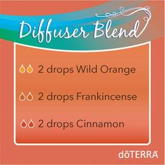 This diffuser blend adds an uplifting and energizing aroma to your home or office while helping to boost your immune system. We are positive you will love it! Wild Orange: uplifting to the mind and body Frankincense: helps build and maintain a healthy immune system Cinnamon: maintains a healthy immune system