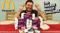 Can you eat 100 McChicken nuggets? [UK] #McDonalds #food #fastfood #delicious #eating #happymeal