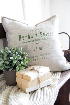 grainsack pillows.