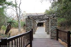 Entrance to Kapama River Lodge