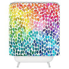 Add a dash of fun to your bathroom with the colorful Garima Dhawan Rain 11 Shower Curtain. This artistic and inventive curtain features a vibrant array of colors that make up a novel interpretation of rain.
