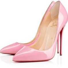 Christian Louboutin Pigalle Follies (5,075 GTQ) ❤ liked on Polyvore featuring shoes, pumps, heels, christian louboutin, louboutin, rose, patent shoes, high heel stiletto pumps, christian louboutin stilettos and high heel pumps