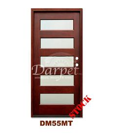 DM55MT5 5 Lite Contemporary Mist Glass Exterior Wood Mahogany Door | Darpet Interior Doors for Chicago  sc 1 st  Pinterest & DM55 6 Panel Contemporary Exterior Wood Mahogany Door 8-0 | Darpet ...